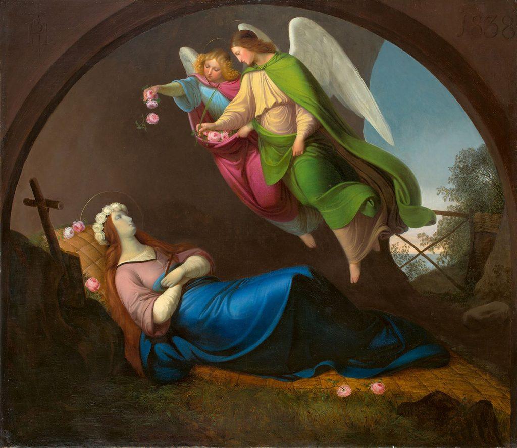 Heinrich Schwemminger, The Death of St. Rosalia of Palermo. Oil on canvas.