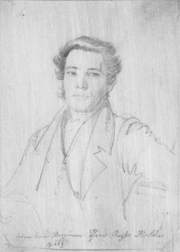 Heinrich Schwemminger (Vienna 1803-1884). Portrait of Johann Conrad Bergmann. Graphite on cream wove paper. 184 x 131 mm, 7 1/4 x 5 1/8 in. Fol. 20r/Ashmolean Museum, Oxford.
