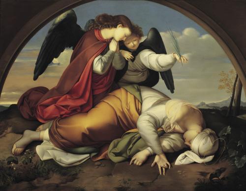 Johann Evangelist Scheffer von Leonardshoff (Vienna 1795-1822), The Death of St. Cecilia (1820-21); Roman Version. Belvedere, Vienna.