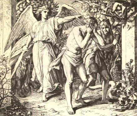 Julius Schnorr von Carolsfeld, The Expulsion from Paradise, from Die Bibel in Bildern, 1852-60