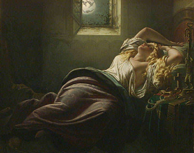 Heinrich Schwemminger (1803-1884), Kriemhild's Dream of the Falcon, oil on canvas, 70x55 cm; 27,6x21,7 in.; formerly art market, Vienna.
