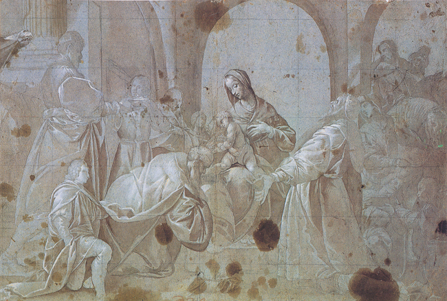 Fig.1. Isidoro Bianchi, Study for the Adoration of the Magi at Santa Maria dei Ghirli in Campione d'Italia (Statens Museum for Kunst Koberstiksamling, Copenhagen, TU 15/6).