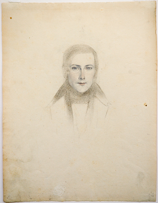 Heinrich Schwemminger (Vienna 1803 - 1884). Portrait of a Young Man. Graphite, black chalk, and red chalk on cream wove paper. 277 x 213 mm, 10 7/8 x 8 5/16 in.